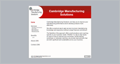 Preview of cambridgemanufacturingsolutions.co.uk