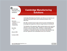 Tablet Preview of cambridgemanufacturingsolutions.co.uk